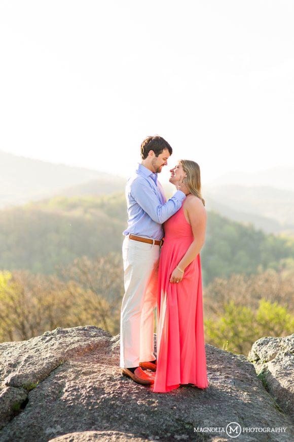Rocky Mountain engagement photo