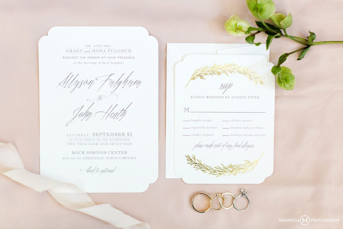 Minted wedding invitation suite