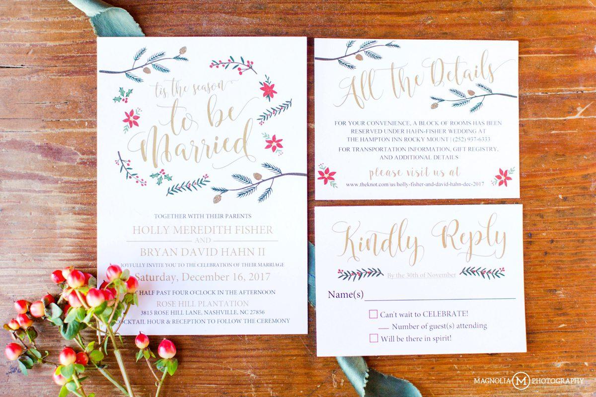 Rose Hill Plantation - Christmas Wedding | Holly + David Married ...