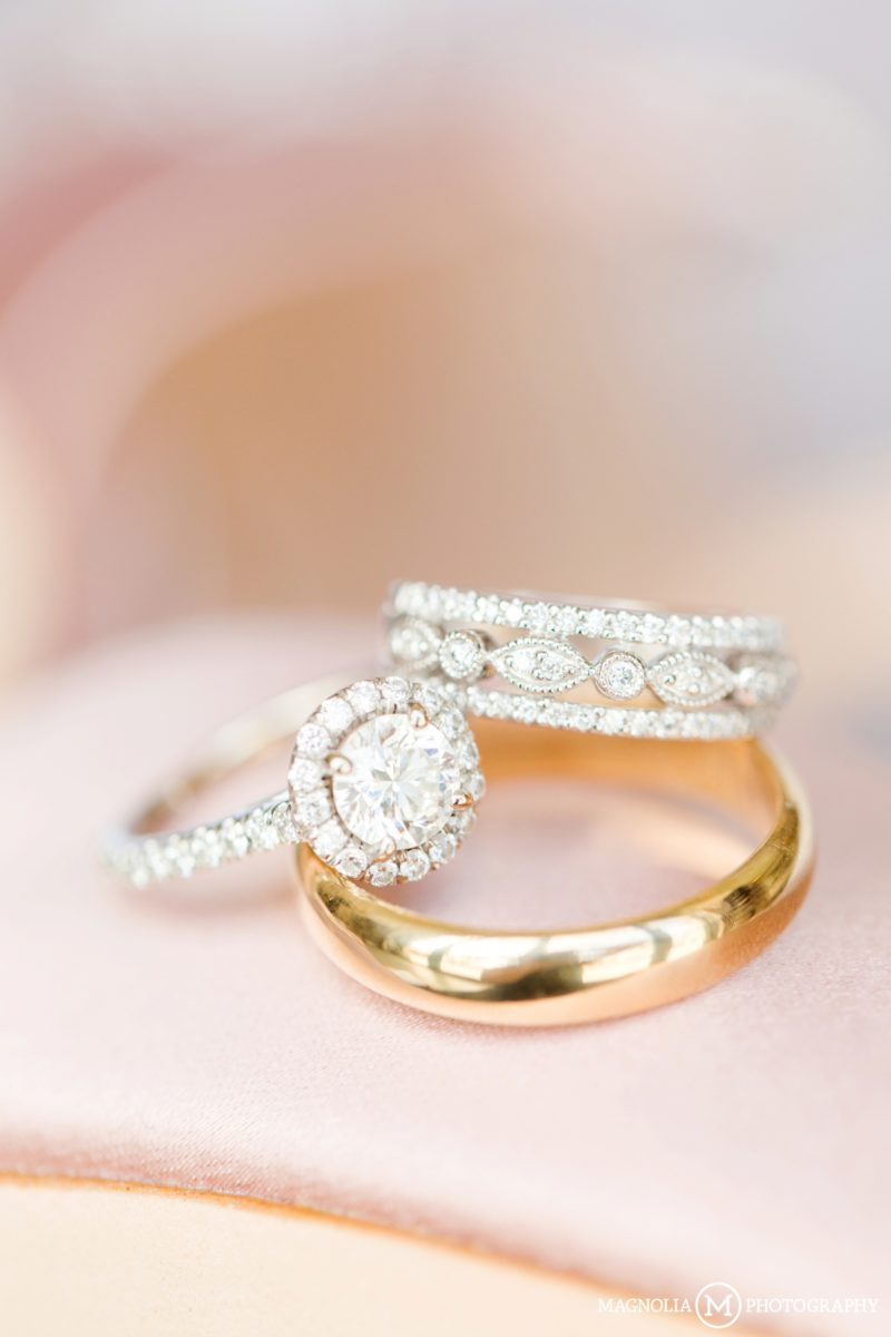 Diamond and Gold Wedding Bands