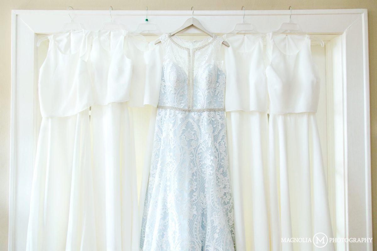 Blue Under Tone Wedding Dress