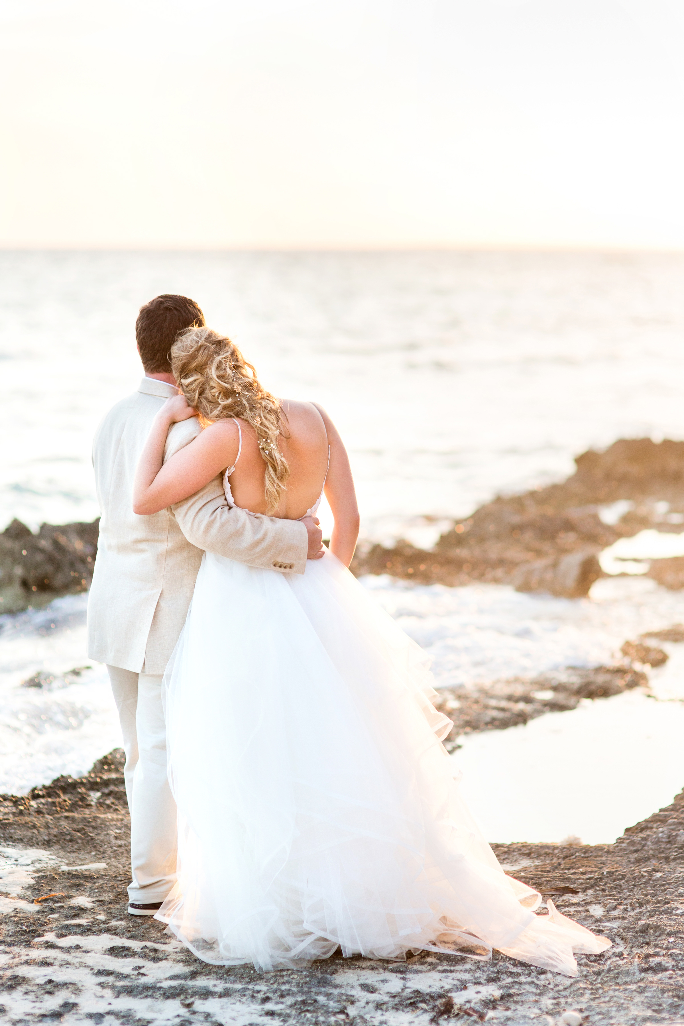 Beach Sunset Bridal Portraits