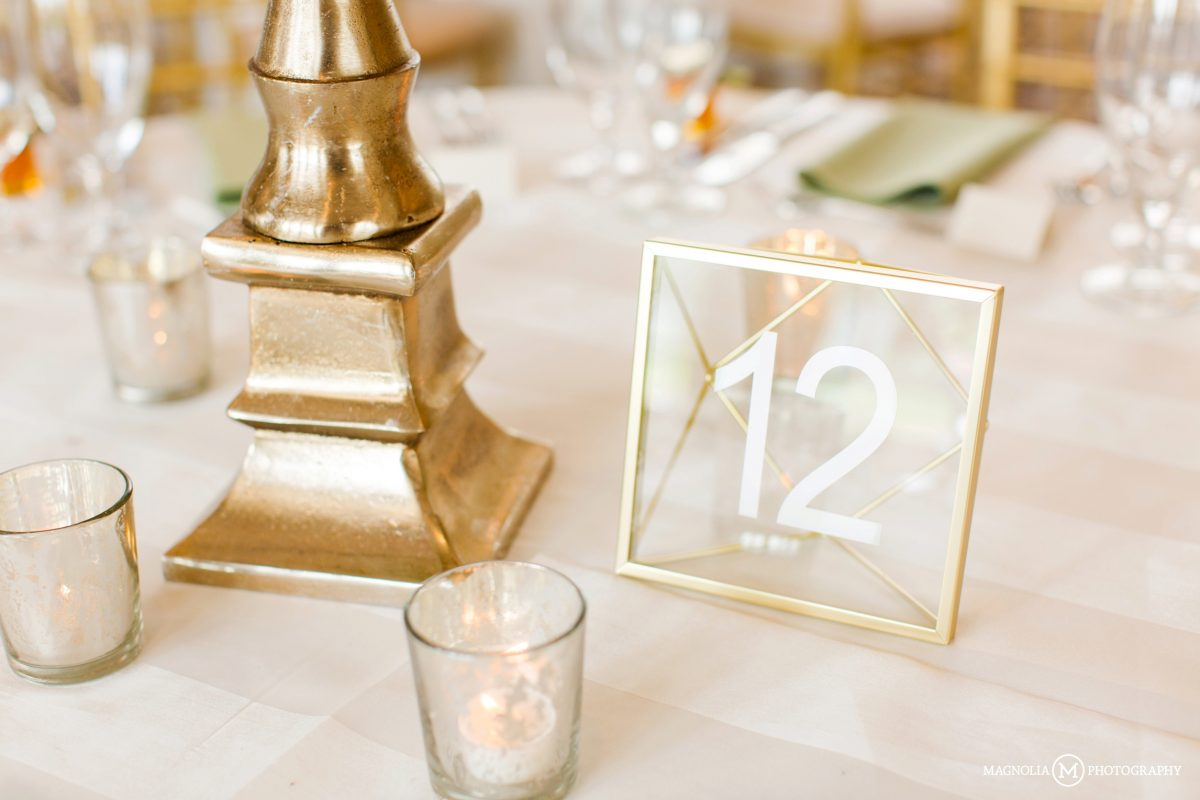 Glass Geometric Table Number