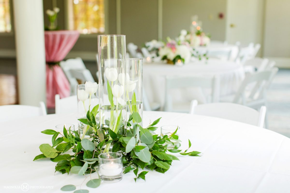 Greenery and Candles Center PIeces