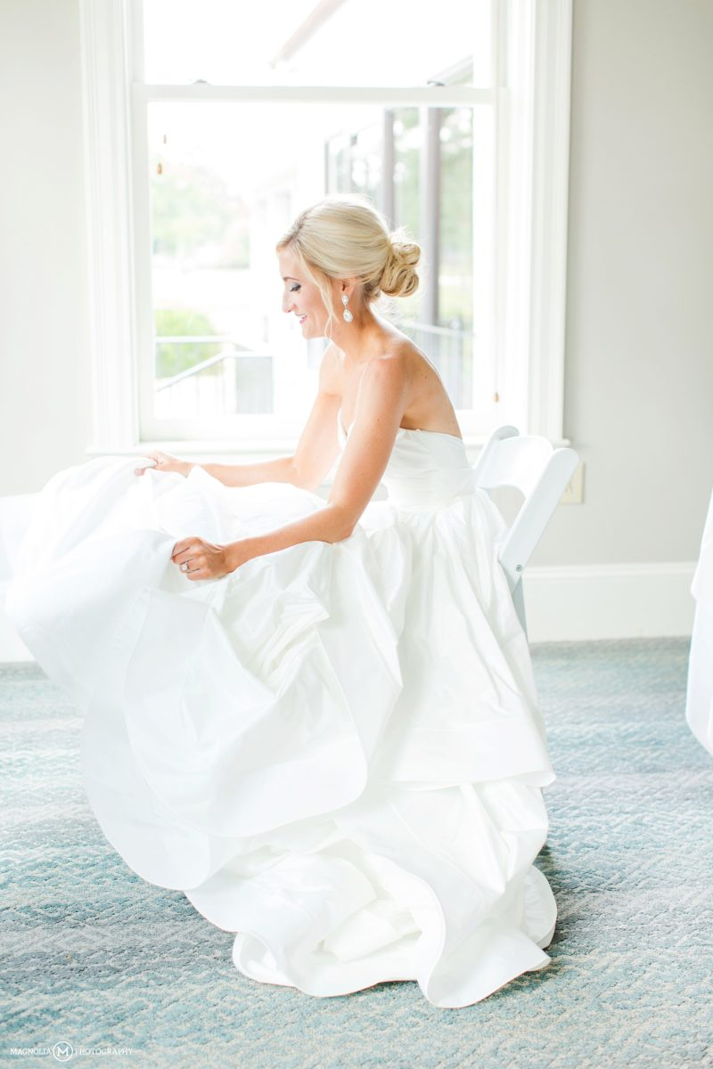 Bride Fluffing Gown