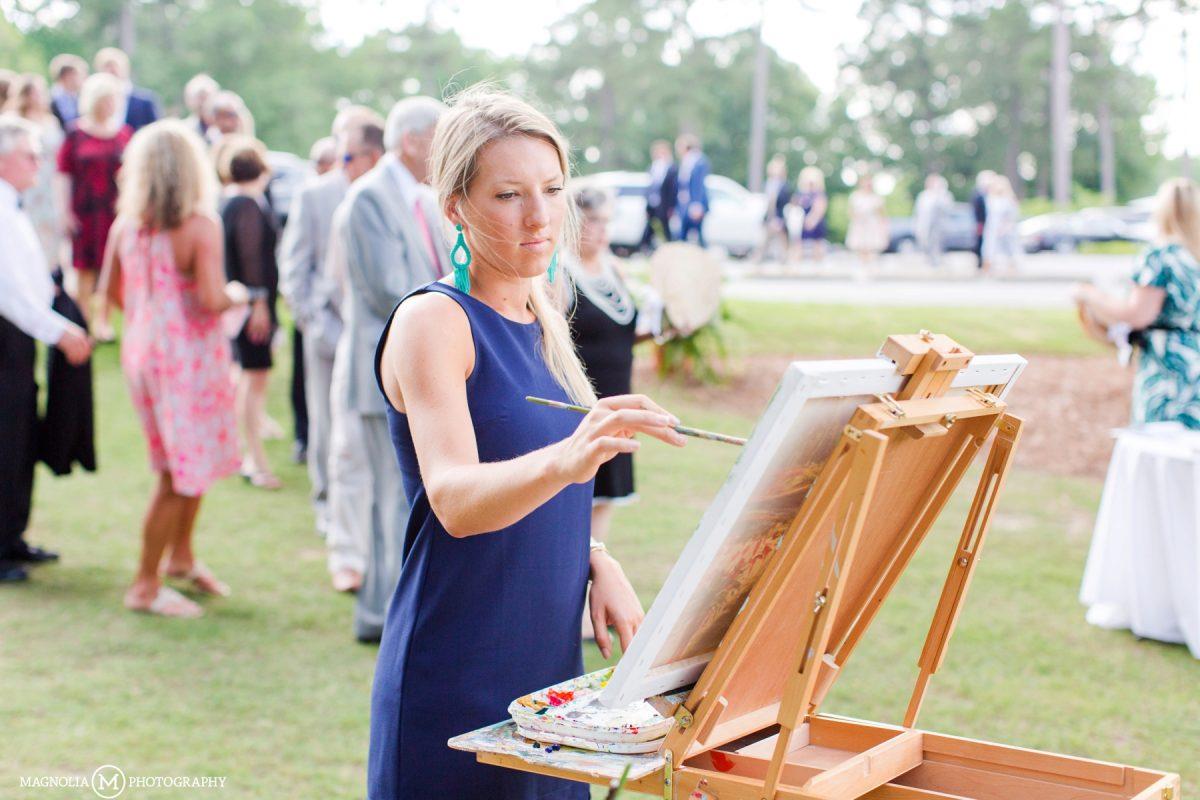 Brittany Rawls Wedding Painter