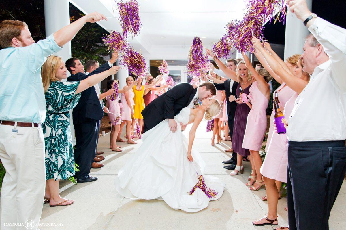 Pom-Pom Wedding Exit