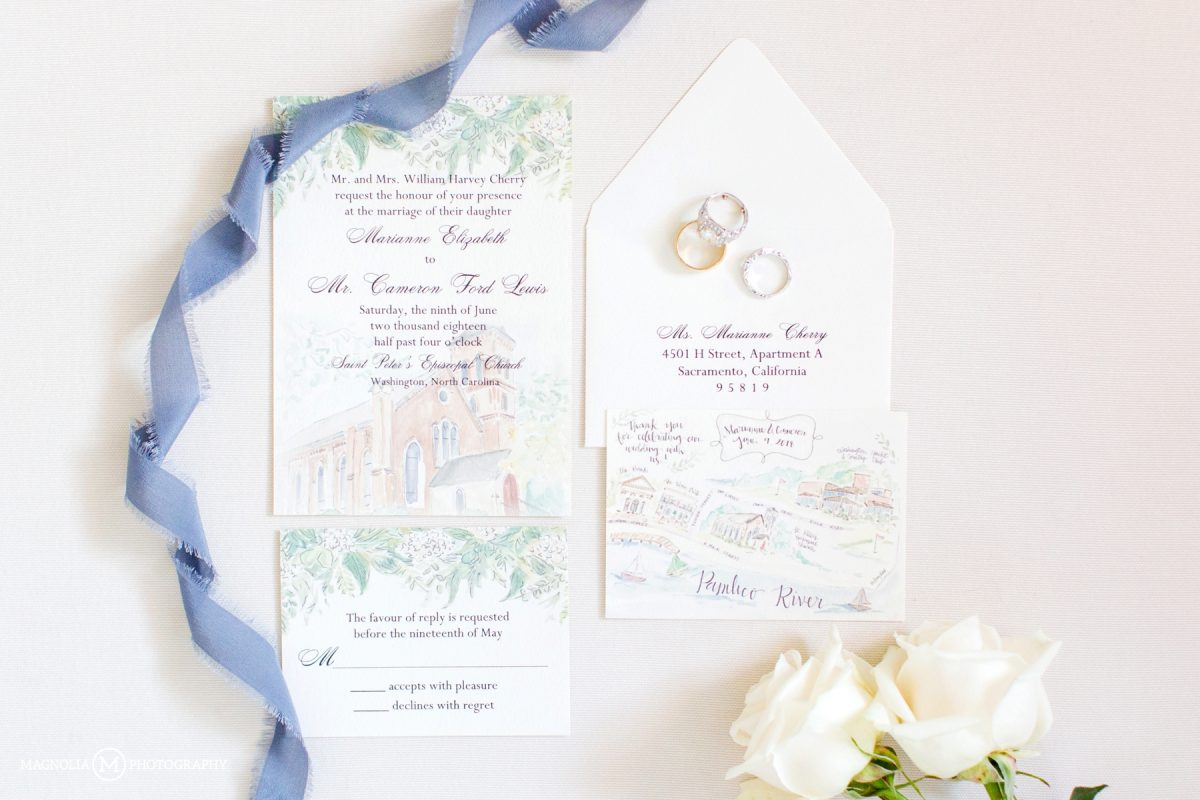 Watercolored Invitation Suite