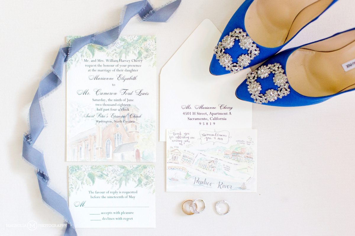 Watercolor Stationery and Manolo Bllahnik Shoes