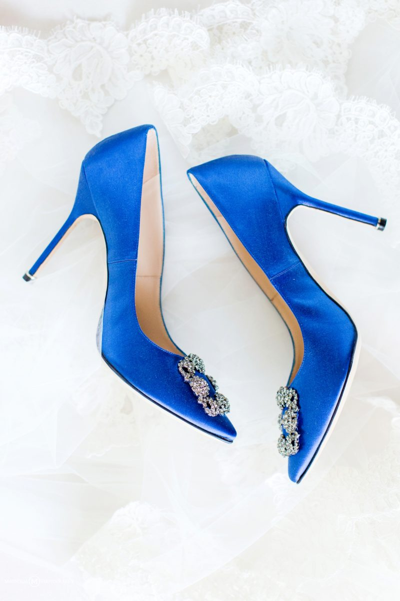 Blue Manolo Blahnik Shoes