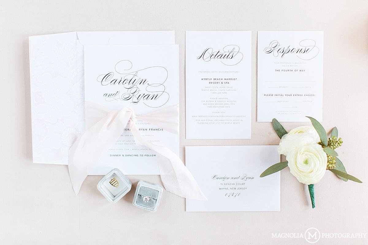 Elegant Calligraphy Invitation Suite