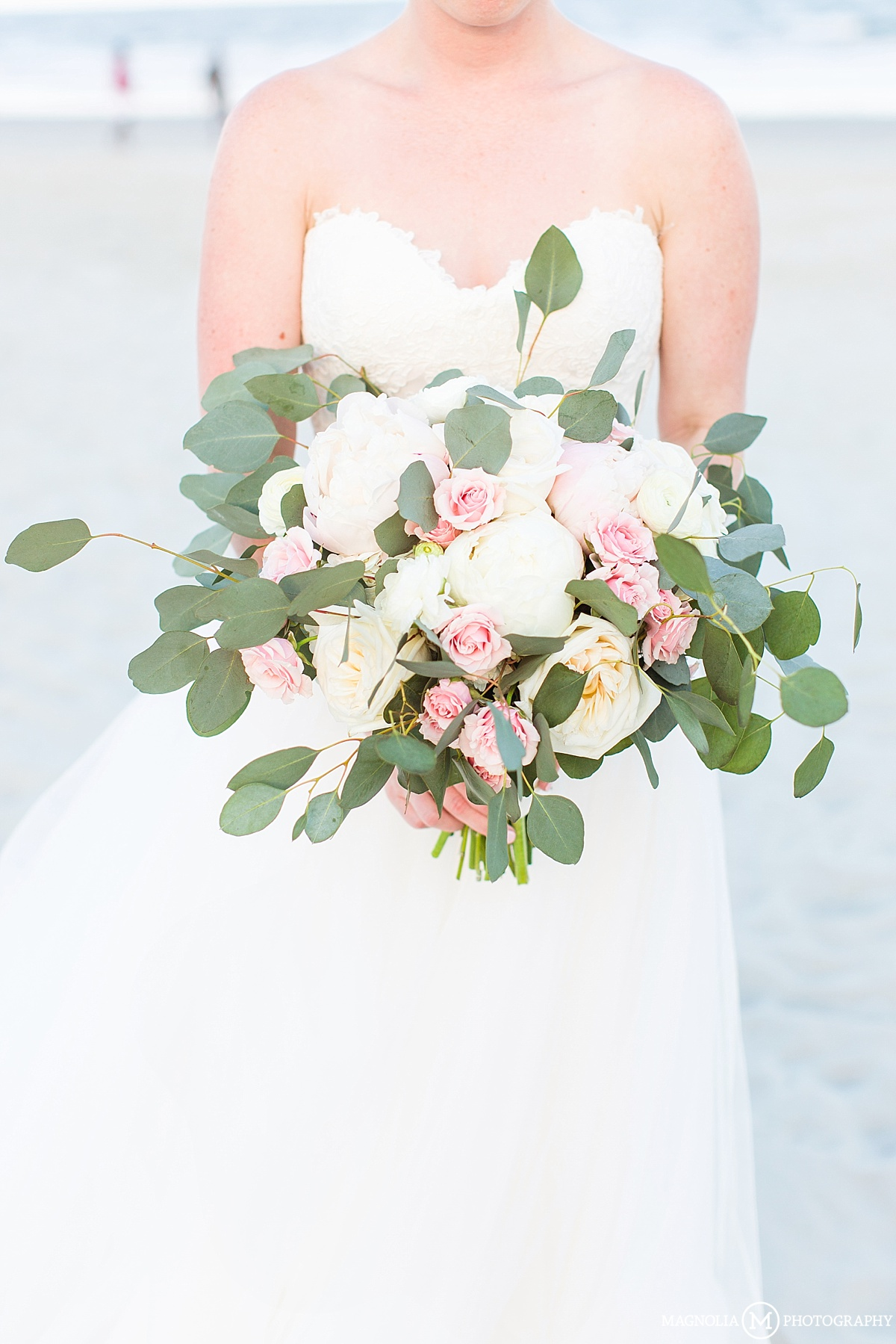 Silver Dollar and Peonies Bouquets