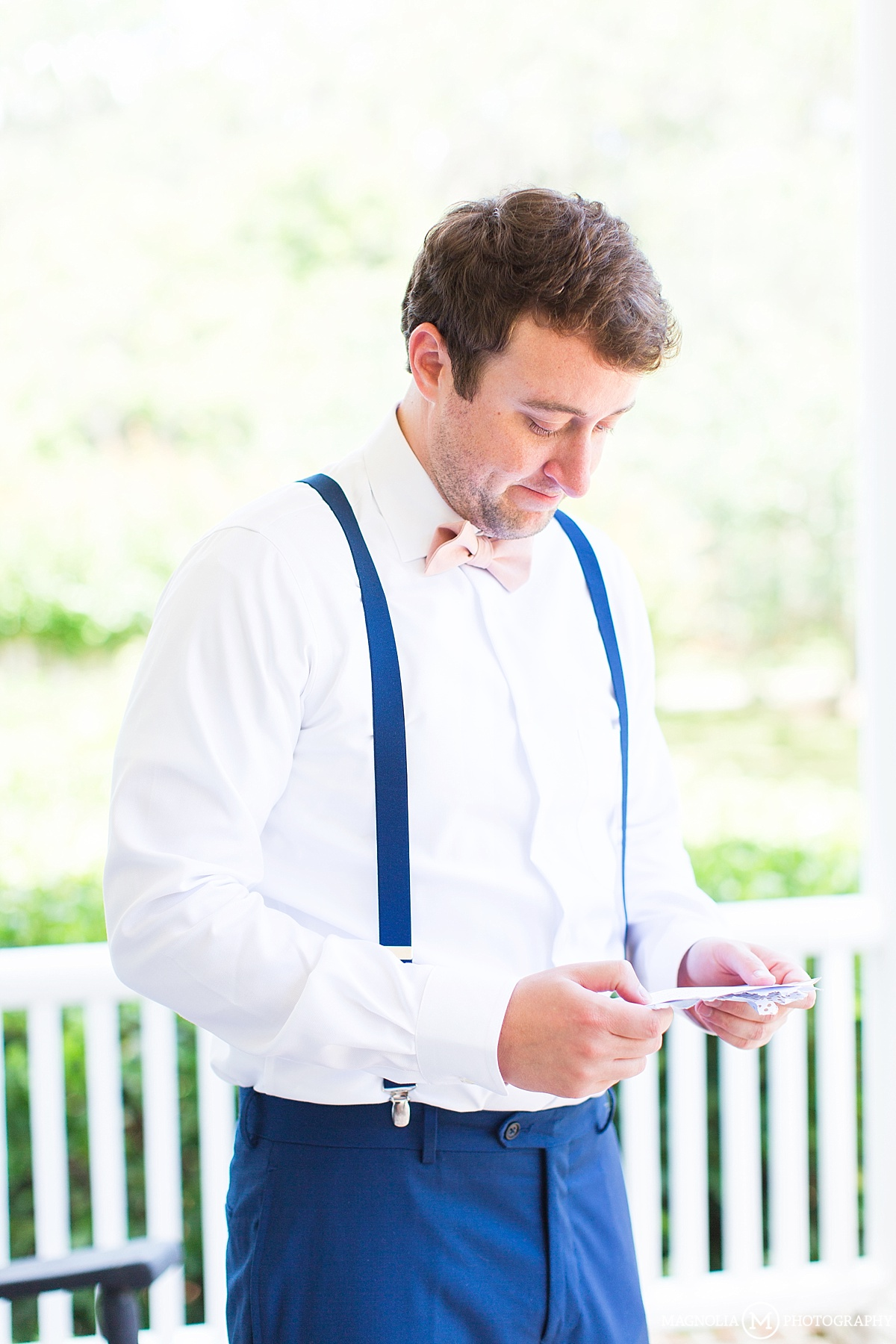 Groom Reading Card